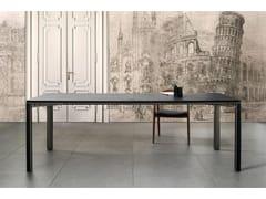 Tavolo rettangolare in acciaio e pelleGREGORIO | Tavolo in pelle - MG12
