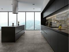 Pavimento/rivestimento in gres porcellanato effetto cemento per interniGREY CLAY - ARIOSTEA