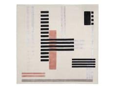 Tappeto quadrato annodato a mano in lana e viscosaGREY - WIENER GTV DESIGN