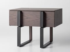Comodino rettangolare in legno con cassettiGRID | Comodino - ZEGEN
