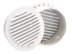 Dakota, GRIGLIA FISSA TONDA PREVERNICIATA Griglia di ventilazione rotonda in alluminio