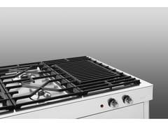 Piano cottura elettrico in acciaio inox con grillPiano cottura con grill - ALPES-INOX