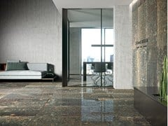 Indoor flooring & Wall tiles with metal effect