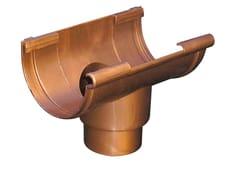 Accessorio per canale di gronda effetto ramato GSN125R - First Plast