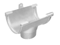 Accessorio per canale di gronda in PVC GSS125N - First Plast