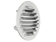 Griglia di ventilazione tonda in acciaio Inox da incassoGTSI80R - FIRST CORPORATION