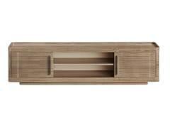 Mobile TV basso in legno con ante a battenteGUGA | Mobile TV - TRIPLEX INTERIORES
