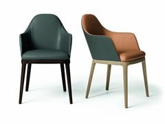 Sedia in pelle con braccioliGULP | Sedia con braccioli - DALL'AGNESE