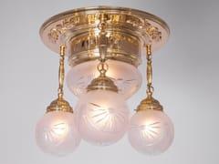 Lampada da soffitto a luce diretta fatta a mano in ottone GYOR III | Lampada da soffitto - Gyor