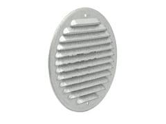 Griglia di ventilazione tonda in metallo AluzinkGZKT125R - FIRST CORPORATION