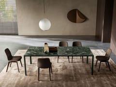 Tavolo rettangolare in marmoHALF A SQUARE | Tavolo in marmo - MOLTENI & C.