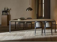 Tavolo rettangolare in legnoHALF A SQUARE | Tavolo in legno - MOLTENI & C.