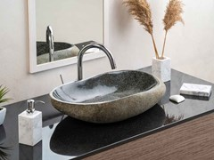 Lavabo ovale in granitoHALF STONE - R.G. SERVICE
