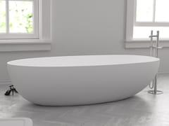 Vasca da bagno ovale in Solid SurfaceHAMBOURG - RILUXA
