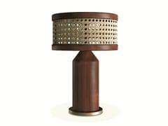 Lampada da tavolo in noce e rattanHAMILTON | Lampada da tavolo - WOOD TAILORS CLUB
