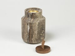 Portacandele in pietra naturaleHANDLE BLACK TRAVERTINE - TCC WHITESTONE