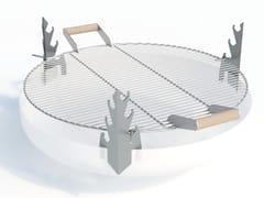 Griglia per barbecue in acciaio inox con maniglie in legnoHANGING BBQ - ARPE STUDIO MB