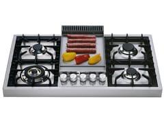 Piano cottura a gas in acciaio inoxHAP95FC | Piano cottura - ILVE