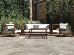 MOBIKA GARDEN, HARP Lounge set da giardino in iroko