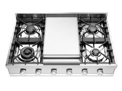 Piano cottura a gas in acciaio inoxHCP90FD | Piano cottura - ILVE