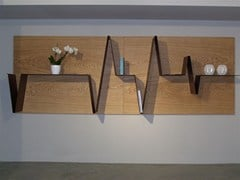 Libreria a giorno a parete in legnoHEART | Libreria in legno - BOFFETTO