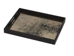 Vassoio rettangolare in legno HEAVY AGED BRONZE MIRROR | Vassoio rettangolare - Classic