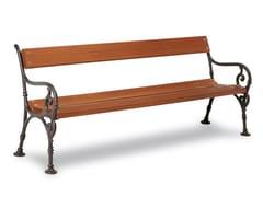 Panchina in legno con braccioliHEDERA - CALZOLARI