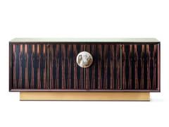 Madia in ebano con ante, cassetti ed illuminazione integrataHELIOS 7015EBL - ARCAHORN