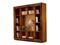 Libreria a giorno autoportante in noceHERGE - FABER MOBILI