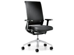 Sedia ufficio operativa ergonomica in tessuto con braccioli con ruote HERO 162H - Hero