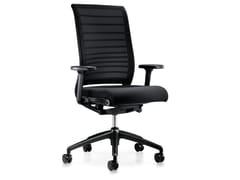 Sedia ufficio operativa ergonomica in rete con ruote HERO 172H - Hero