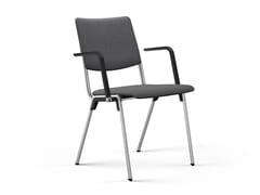 Sedia da conferenza imbottita in metallo con braccioliHERO PLUS | Sedia da conferenza con braccioli - BRUNNER
