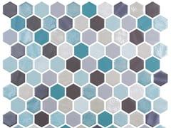Mosaico in vetro per interni ed esterniHEX BLEND AQUAMARINE - ONIX CERÁMICA