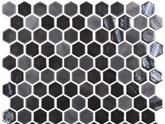 Mosaico in vetro per interni ed esterniHEX BLEND BLACK - ONIX CERÁMICA