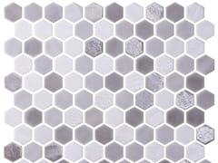 Mosaico in vetro per interni ed esterniHEX BLEND DOVE - ONIX CERÁMICA