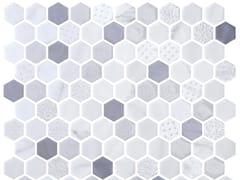 Mosaico in vetro per interni ed esterniHEX BLEND FOSSIL - ONIX CERÁMICA
