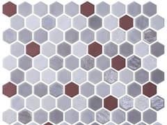 Mosaico in vetro per interni ed esterniHEX BLEND GARNET - ONIX CERÁMICA