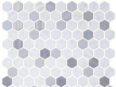 Mosaico in vetro per interni ed esterniHEX BLEND METAL CARRARA - ONIX CERÁMICA