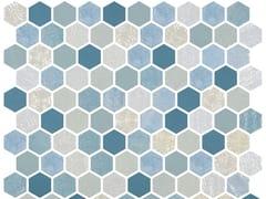 Mosaico in vetro per interni ed esterniHEX BLEND SEAGREEN - ONIX CERÁMICA