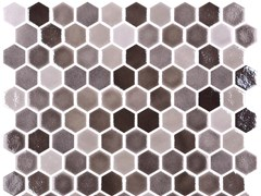 Mosaico in vetro per interni ed esterniHEX BLEND TAN - ONIX CERÁMICA