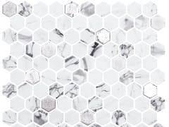 Mosaico in vetro per interni ed esterniHEX FOSCO SILVER - ONIX CERÁMICA