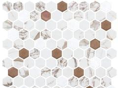 Mosaico in vetro per interni ed esterniHEX HABANA COPPER - ONIX CERÁMICA