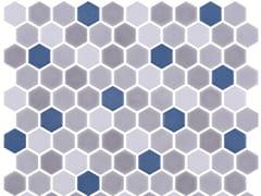 Mosaico in vetro per interni ed esterniHEX STONEBLEND AEGEAN - ONIX CERÁMICA