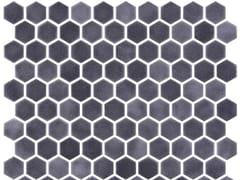 Mosaico in vetro per interni ed esterniHEX STONEGLASS ANTRACITE - ONIX CERÁMICA