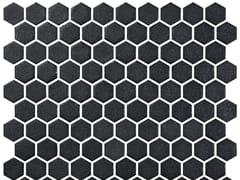 Mosaico in vetro per interni ed esterniHEX STONEGLASS BLACK - ONIX CERÁMICA
