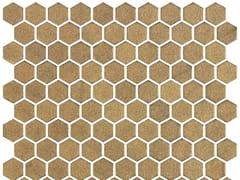 Mosaico in vetro per interni ed esterniHEX STONEGLASS GOLD - ONIX CERÁMICA