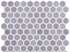 Mosaico in vetro per interni ed esterniHEX STONEGLASS LIGHT BRUN - ONIX CERÁMICA