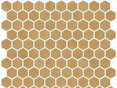 Mosaico in vetro per interni ed esterniHEX STONEGLASS OCHRE - ONIX CERÁMICA