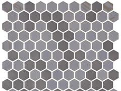 Mosaico in vetro per interni ed esterniHEX STONEGLASS OPALO GREY - ONIX CERÁMICA
