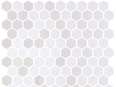 Mosaico in vetro per interni ed esterniHEX STONEGLASS OPALO WHITE - ONIX CERÁMICA